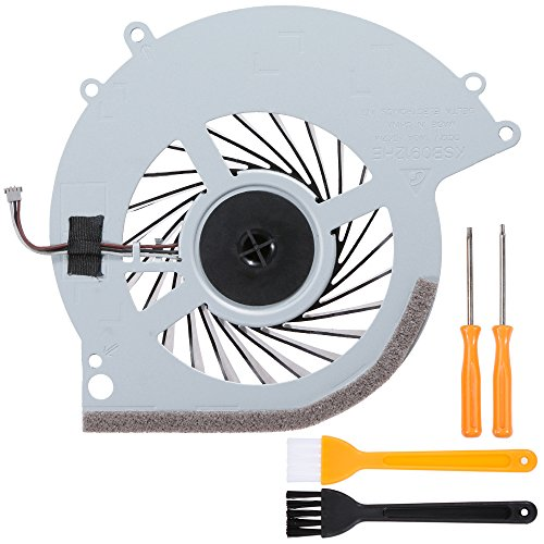 (Zacro PS4 Replacement Internal Cooling Fan KSB0912HE for Playstation 4 CUH-10XXA CUH-11XXA CUH-1115A 500GB + Tool Kit+ Cleaning Brush)
