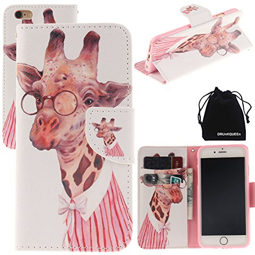 "iPhone 6 & iPhone 6S Case, DRUnKQUEEn Leather Wallet Case Back Cell Phone Shell Skin Magnetic Flap Cover with Credit Card Holder for iPhone6 (4.7"") / iPhone6S (4.7"")"