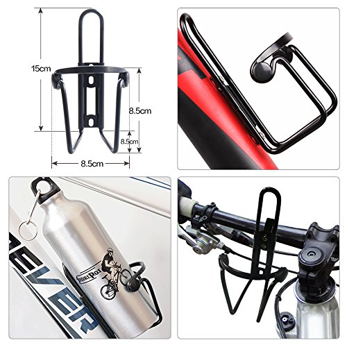 Bike Water Bottle Cage, VIFLYKOO Bicycle Aluminum Alloy Lightweight Water Bottle Holder Cages Brackets for Outdoor Activities (2 Pack)