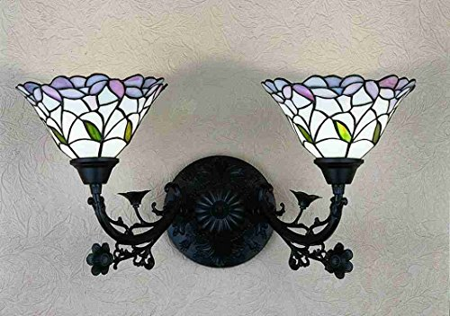 Tiffany Style Stained Glass Daffodil Bell Light Wall Sconce