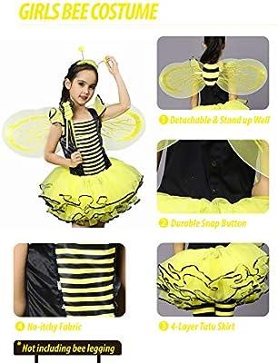 7b9c5b499 Amazon.com  IKALI Bumble Bee Costume for Girls