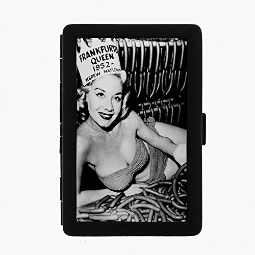 Perfection In Style Black Color Metal Cigarette Case D 189 1952 Frankfurter Queen Hebrew