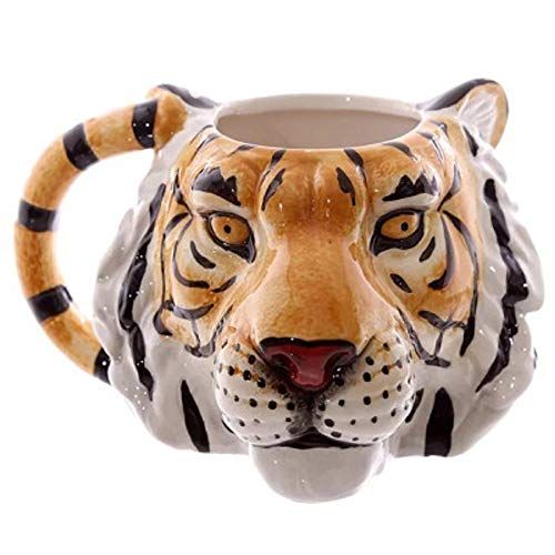 3D Tiger Head Wildlife Adventure Tiger Face Mug Ceramic Cup Animal Coffee Mug Personalised Animal Tea Cup