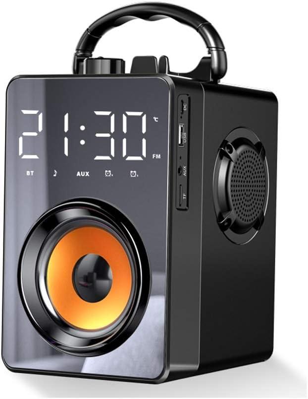 Altavoz Bluetooth,Altavoces Bluetooth, De Alto Volumen Al Aire Libre Audio Portátil, Inalámbrica Doméstica Pequeña Subwoofer, 360 ° Stereo Surround, Bluetooth 5.0, Radiocasete Portátil