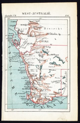 Map Australia Perth.Amazon Com Antique Map Western Australia Perth Jacob Kuyper 1880