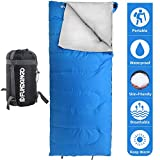 FUNDANGO Lightweight Sleeping Bag Compact Waterproof Envelope Design Portable Summer Backpacking Camping Hiking Sleeping Bags for Adults,Boys,Girls,Kids Extreme 4℃/39.2℉ Degree with Compression Sack
