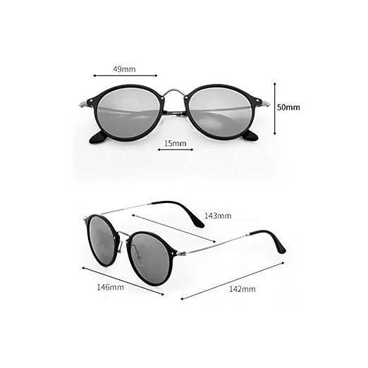 WYYY Sonnenbrillen Fahrbrille Ms. Klassisch Retro Große Grenze Polarisiertes Licht Reflektierend Dekoration Sonnenschutz Anti-UVA UV-Schutz 100% (Farbe : Black+Green) P6zi2jsSB