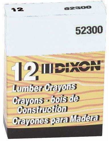 Dixon 52300 Lumber Crayons, 4 1/2 x 1/2, White, Dozen