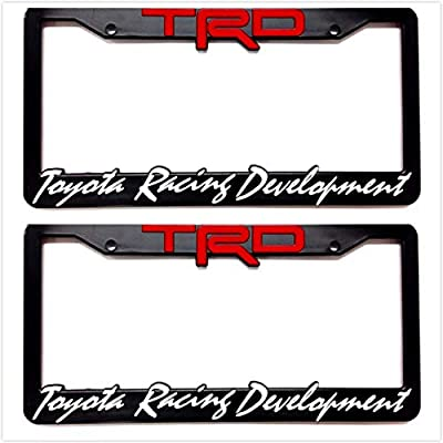 Sparkoo TF-TRD-BRW TRD Sport Off Road TRD SR5 License Plate Frames Cover Holder Racing Development 3D Letters Molded (2): Automotive