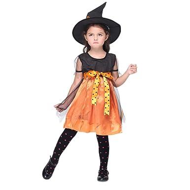 7dd7235fff43c Ochine ハロウィン ウィッチ 巫女 魔女 小悪魔 女の子 カボチャ レース ワンピース ロング 丈 半袖 パープル オレンジ