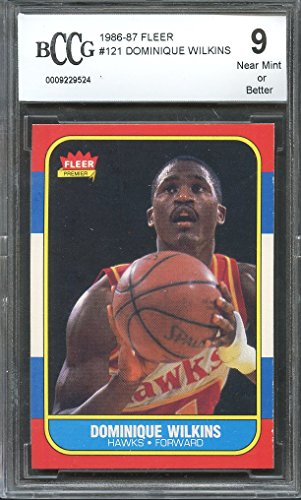 OMINIQUE WILKINS hawks rookie (50-50 CENTERED) BGS BCCG 9 Graded Card (Dominique Wilkins Atlanta Hawks)