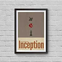 Inception Movie Print Minimalist Vintage Poster Totem Spinning Top Christopher Nolan Artwork Wall Art Home Decor Wall Hanging
