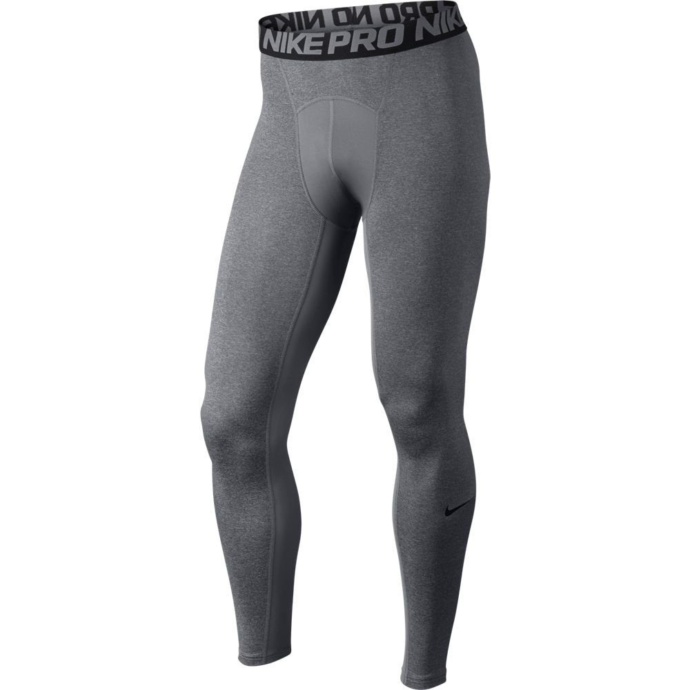 Nike Men's Pro Cool Compression Tight, Carbon Heather Black, Large
