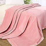 ELLESILK Silk Blanket, Silk Bed Blanket, Premium Quality 100% Mulberry Silk, Super Soft, Hypoallergenic, Pink, Twin