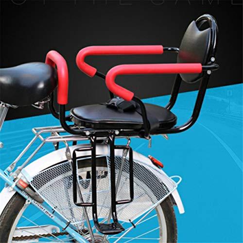 GFYWZ Bicycle Rear Seat Kids Cushion Footrest Set, Child Bike Back Seat Armrest Seat Cushion, Detachable Fence Armrest and Pedal ()