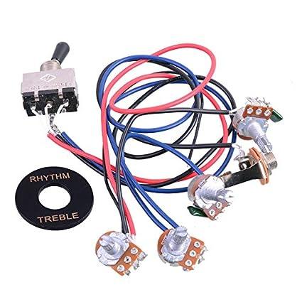 amazon com getmusic guitar wiring harness prewired 2v2t 3 way rh amazon com 3-Way Switch Wiring Diagram Telecaster 3-Way Switch Wiring