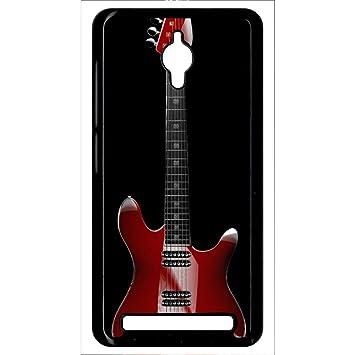 Carcasa Asus Zenfone Go guitarra Red: Amazon.es: Electrónica
