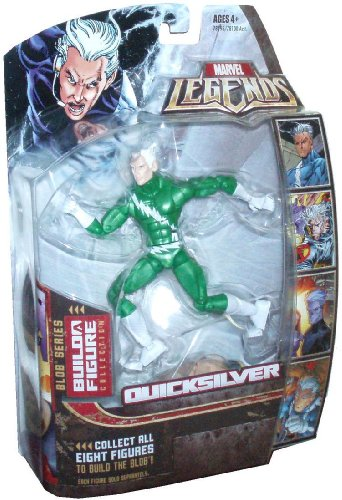 Marvel Legends 2006 Blob Series 6 Inch Tall Action Figure - Variant Green Outfit QUICKSILVER with Blob's Left Arm