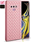 Galaxy Note 9 Case, Slim & Flexible Soft TPU Shockproof Cases for Samsung Note9, Ulta-Thin Full Body Cover, Protective Bumper for Note 9 Cell Phone, 2018 Hard Rugged Heavy Duty Protection (Pink)