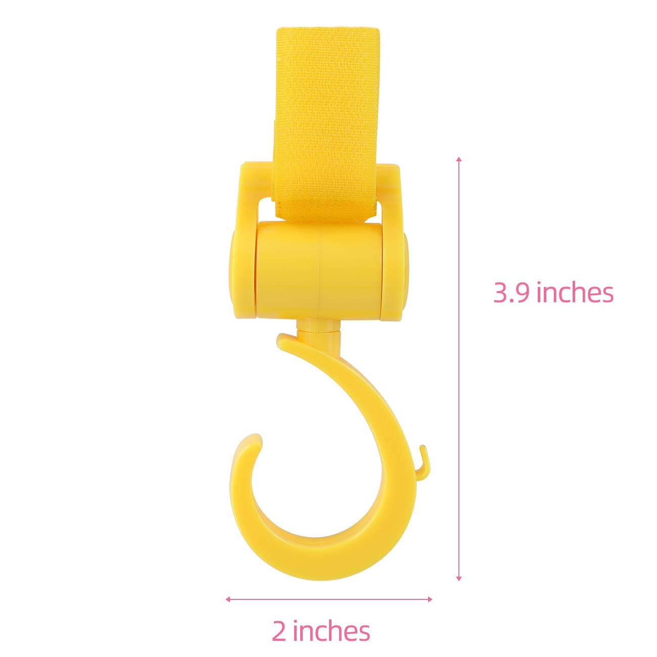 Hooks for Baby Strollers Baby Stroller Hooks Multifunctional 360 Degree Universal Car Baby Accessories Black