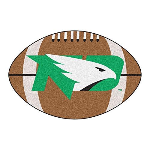 NCAA University of North Dakota Fighting Hawks Football Shaped Mat Area Rug