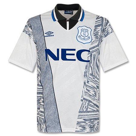 best service d970a b800b 95-96 Everton Away Shirt - White/Grey Grade 8 - XL: Amazon ...