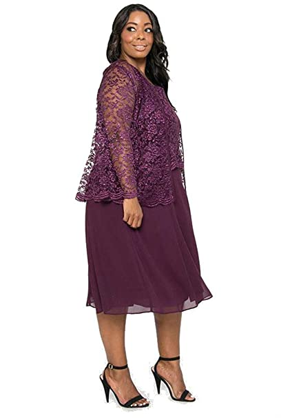 432cb602ac4 The Dress Outlet Short Mother of The Bride Dress Plus Size at Amazon Women s  Clothing store