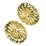 uGems 14K Solid Gold 9.5mm Spiral Swirl Circle Earring Backs for 0.030-0.035'' Post 1 Pair