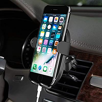 Aecks Phone Holder for Car, Universal Compatible Air Vent Mount Cradle, Fits All Smart Phone, iPhone 11 11Pro 11Pro Max/Xs/Xs Max 8 7, Pixel 4 4XL 3 3XL, Galaxy S9 S10 Note, LG Nexus Nokia and More