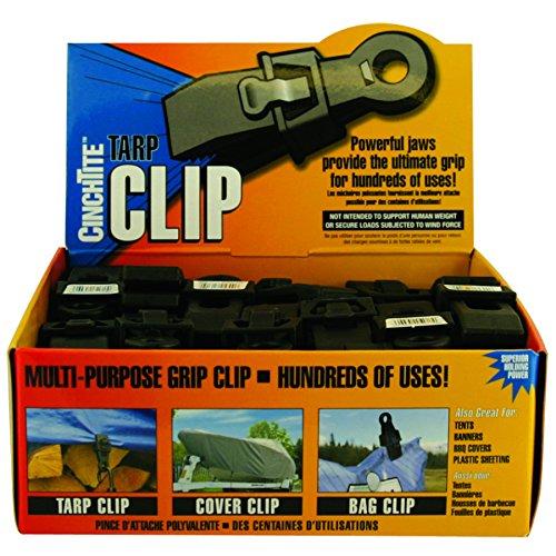 4 Count Tarp Clip Cinch Tite Grip Clip White