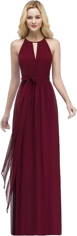 MisShow Womens Vintage Halter Wedding Bridesmaid Evening Party Maxi Dress