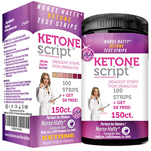 Nurse Hatty – Keto Strips 150ct. – New & Improved – U.S.A. Made – High Performance – Perfect for Ketogenic, Low Carb…