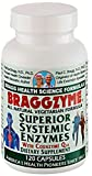 Braggzyme Superior Systemic Enzymes 120 Capsules For Sale