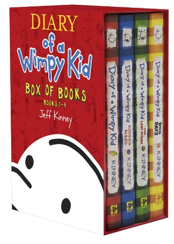 Diary of a Wimpy Kid Box of Books 1-4 Revised - Book  of the Diary of a Wimpy Kid