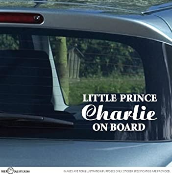 Custom name little prince on board car vinyl decal bumper sticker by sticktak stickers
