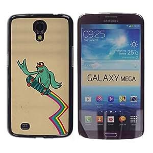 LECELL -- Funda protectora / Cubierta / Piel For Samsung Galaxy Mega 6.3 I9200 SGH-i527 -- Cool Funny Surfer Dude --