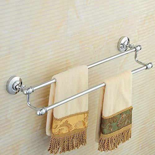 (Bar of Smooth Towel Bar Copper Napkin All Washrooms Double Piston Rod Shelves Bathroom Hair-Bath Towels Pendant European Hardware (40Cm/50Cm/60Cm/70Cm/80Cm/90Cm/100Cm) Does Not Rust () (Size: 70Cm))