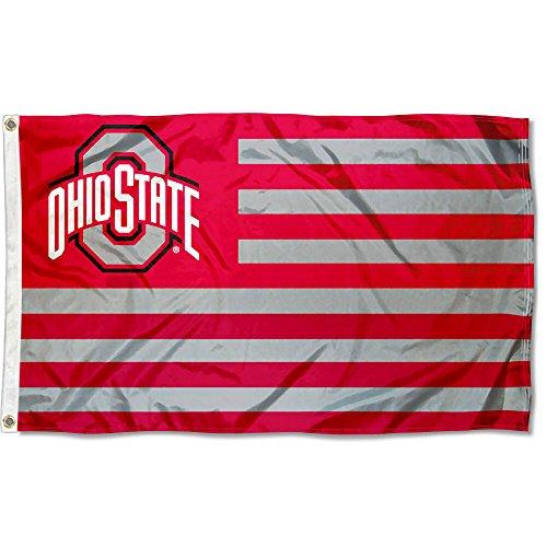 Ohio State Buckeyes Stars and Stripes Nation Flag