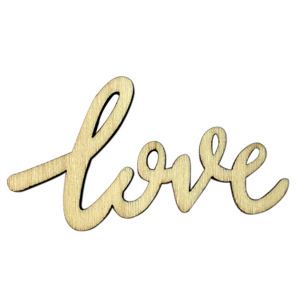 Connoworld 15Pcs Love Words Wooden Rustic Wedding Table Confetti Scatter Party Decoration Crafts