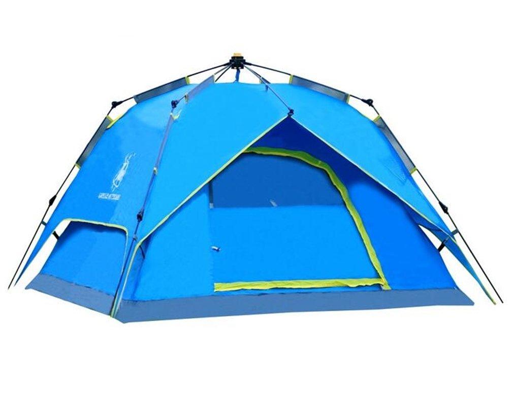 TTYY Im Freien automatisches Zelt-kampierendes wasserdicht Feld-Überlebens-Abenteuer wasserdicht Zelt-kampierendes verwendbar für 3  4 Leute 08d06a