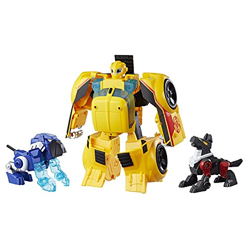 Playskool Heroes Transformers Rescue Bots Bumblebee Rescue Guard 10-Inch Converting Toy Robot Action Figure, Lights and Sounds, Toys for Kids Ages 3 and Up]()