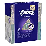 KLEENEX Ultra Soft Facial Tissue, 3-Ply, White, 8.2 inch x 8.4 inch, 75/Box, 4 Box/Pack - Packaging May Vary (Assorted color and style boxes),Pack of 4,