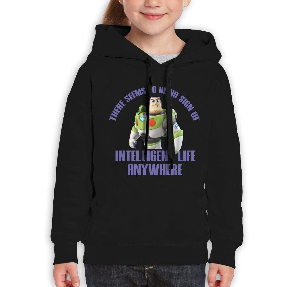 Guiping Toy Story Youth Pullover Hooded Sweatshirt Black S