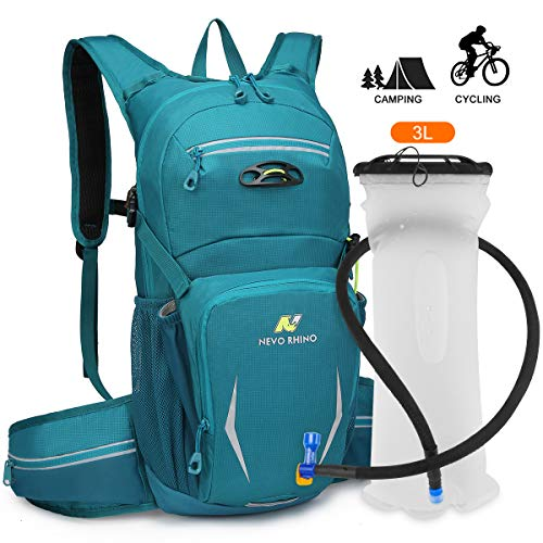 NEVO Rhino Hydration Backpack Pack with 3L Water Bladder for