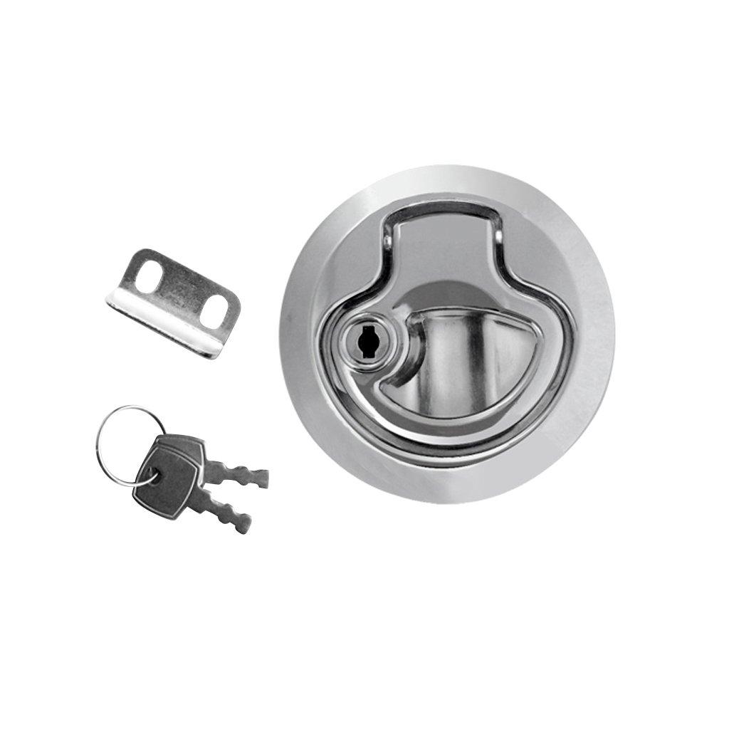 FITYLE Zink-Legierung Bodenheber Einlassgriff mit Schloss und Schlüssel