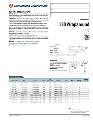 Lithonia Lighting LBL4 LED Low Profile Commercial Wraparound, 4-Feet