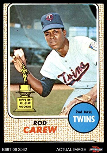 1968 Topps # 80 Rod Carew Minnesota Twins (Baseball Card) Dean's Cards 1.5 - FAIR Twins Rod Carew Minnesota Twins