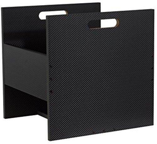 Atlantic Stackable - Atlantic 96636248 Record Crate, Black Carbon Fiber
