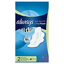 Always Infinity Unscented Pads with Wings - Heavy Flow 32-Count (Pack of 2)