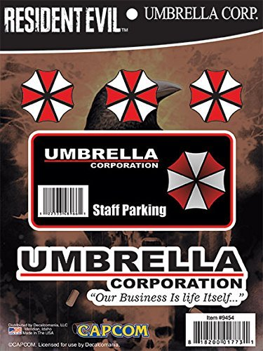 Resident Evil Umbrella Corporation Hive Parking Sticker Includes 5 Decals For Macbook Laptop Vehicle Licensed By Capcom
